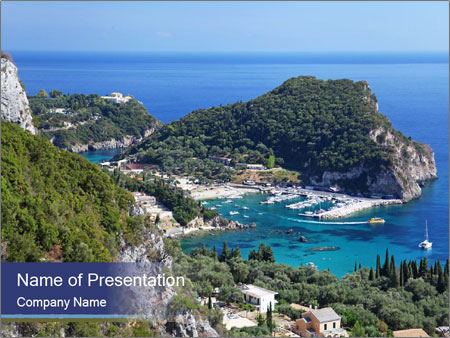 Greek island PowerPoint Template