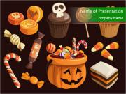 Colorful halloween sweets PowerPoint Templates