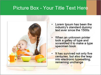Young mother PowerPoint Template - Slide 13