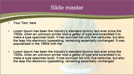 Green plants PowerPoint Template - Slide 2