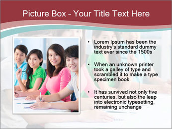 Four students sitting in classroom PowerPoint Template - Slide 13