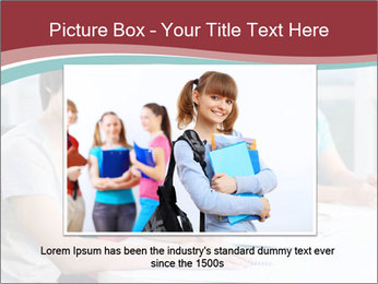 Four students sitting in classroom PowerPoint Template - Slide 15