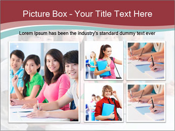 Four students sitting in classroom PowerPoint Template - Slide 19