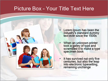 Four students sitting in classroom PowerPoint Template - Slide 20