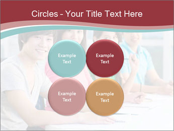 Four students sitting in classroom PowerPoint Template - Slide 38