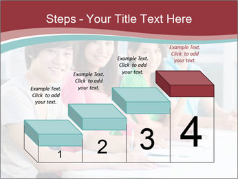 Four students sitting in classroom PowerPoint Template - Slide 64