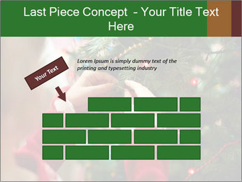 Child hanging decorative toy PowerPoint Templates - Slide 46