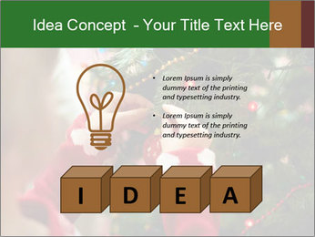 Child hanging decorative toy PowerPoint Template - Slide 80
