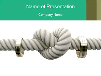 A coarse rope PowerPoint Template - Slide 1