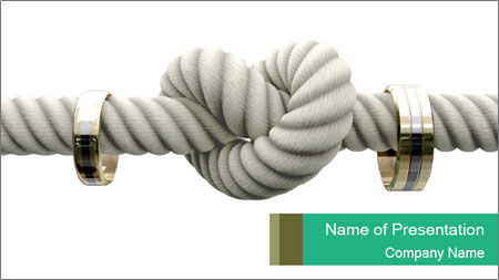 A coarse rope PowerPoint Template