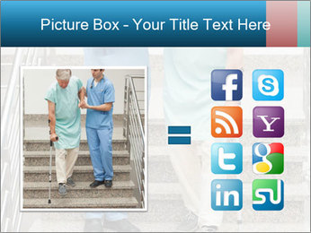 Male nurse assisting a patient PowerPoint Template - Slide 21