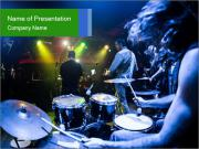 Performances of the musicians PowerPoint Templates