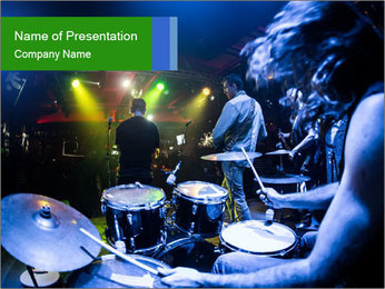 Performances of the musicians PowerPoint Template - Slide 1