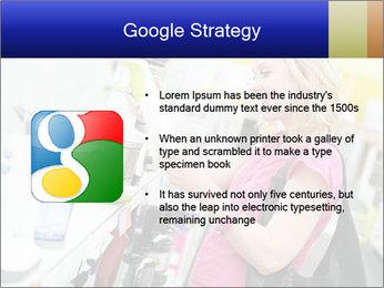 Woman choosing kitchen mixer PowerPoint Template - Slide 10
