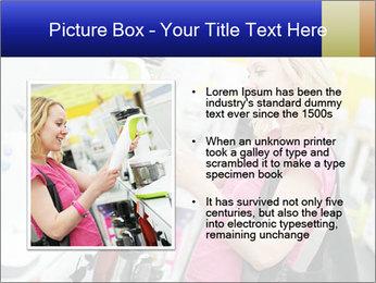 Woman choosing kitchen mixer PowerPoint Template - Slide 13