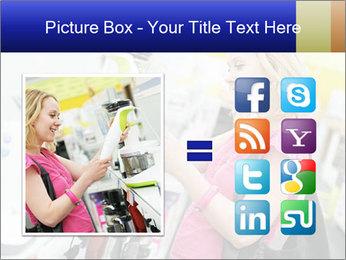 Woman choosing kitchen mixer PowerPoint Template - Slide 21