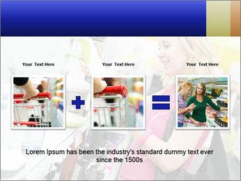 Woman choosing kitchen mixer PowerPoint Template - Slide 22