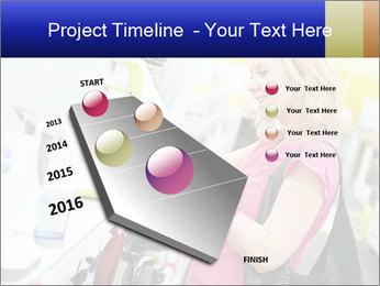 Woman choosing kitchen mixer PowerPoint Template - Slide 26