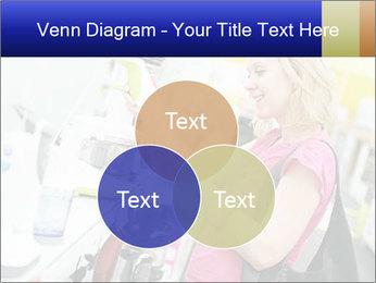 Woman choosing kitchen mixer PowerPoint Template - Slide 33