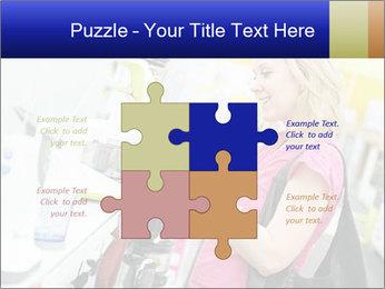 Woman choosing kitchen mixer PowerPoint Template - Slide 43
