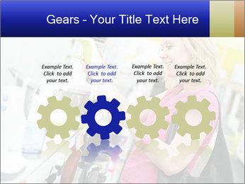 Woman choosing kitchen mixer PowerPoint Template - Slide 48