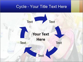 Woman choosing kitchen mixer PowerPoint Templates - Slide 62
