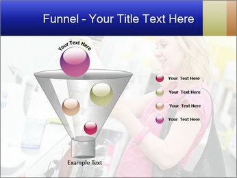 Woman choosing kitchen mixer PowerPoint Template - Slide 63