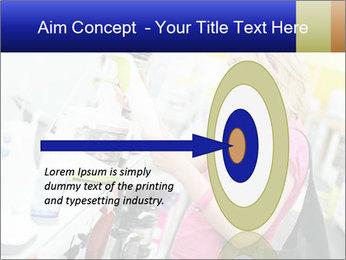 Woman choosing kitchen mixer PowerPoint Template - Slide 83