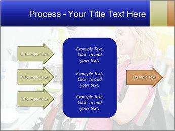 Woman choosing kitchen mixer PowerPoint Template - Slide 85