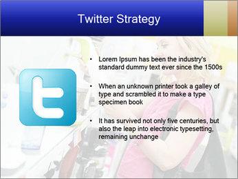 Woman choosing kitchen mixer PowerPoint Template - Slide 9