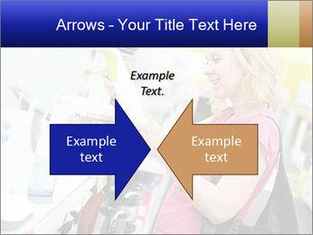 Woman choosing kitchen mixer PowerPoint Template - Slide 90