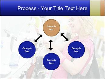 Woman choosing kitchen mixer PowerPoint Template - Slide 91
