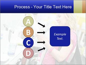 Woman choosing kitchen mixer PowerPoint Template - Slide 94