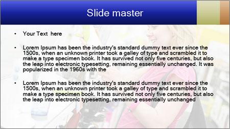 Woman choosing kitchen mixer PowerPoint Template - Slide 2