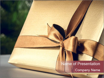 Christmas gift PowerPoint Templates - Slide 1