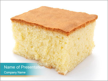Cake PowerPoint Template - Slide 1