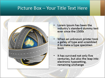 3d Globe and roads PowerPoint Template - Slide 13