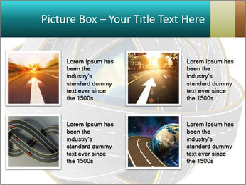 3d Globe and roads PowerPoint Template - Slide 14