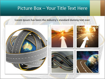 3d Globe and roads PowerPoint Template - Slide 19