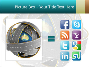 3d Globe and roads PowerPoint Template - Slide 21