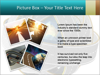 3d Globe and roads PowerPoint Template - Slide 23