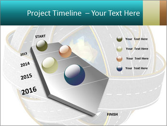 3d Globe and roads PowerPoint Template - Slide 26