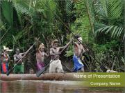 Ceremony of Asmat people PowerPoint Templates