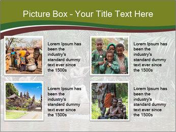 Ceremony of Asmat people PowerPoint Template - Slide 14