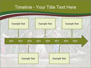 Ceremony of Asmat people PowerPoint Template - Slide 28