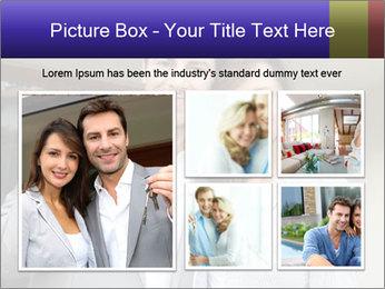 Couple holding door keys PowerPoint Templates - Slide 19