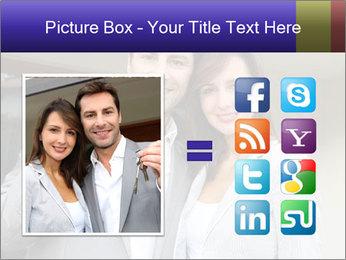 Couple holding door keys PowerPoint Templates - Slide 21