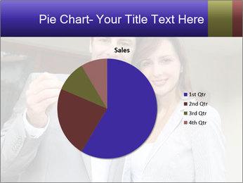 Couple holding door keys PowerPoint Templates - Slide 36