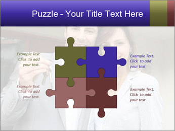 Couple holding door keys PowerPoint Templates - Slide 43