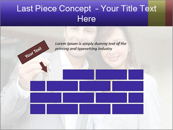 Couple holding door keys PowerPoint Templates - Slide 46